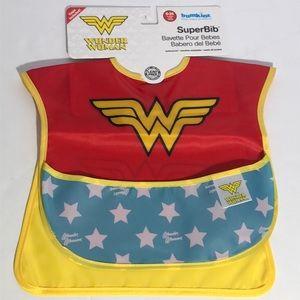 Baby Girl's Wonder Woman Waterproof Bib w/ Cape
